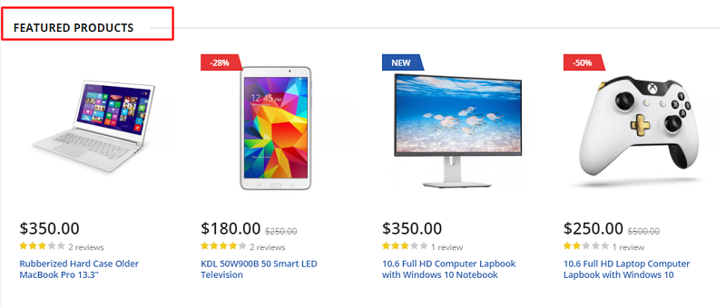 featured magento products slider