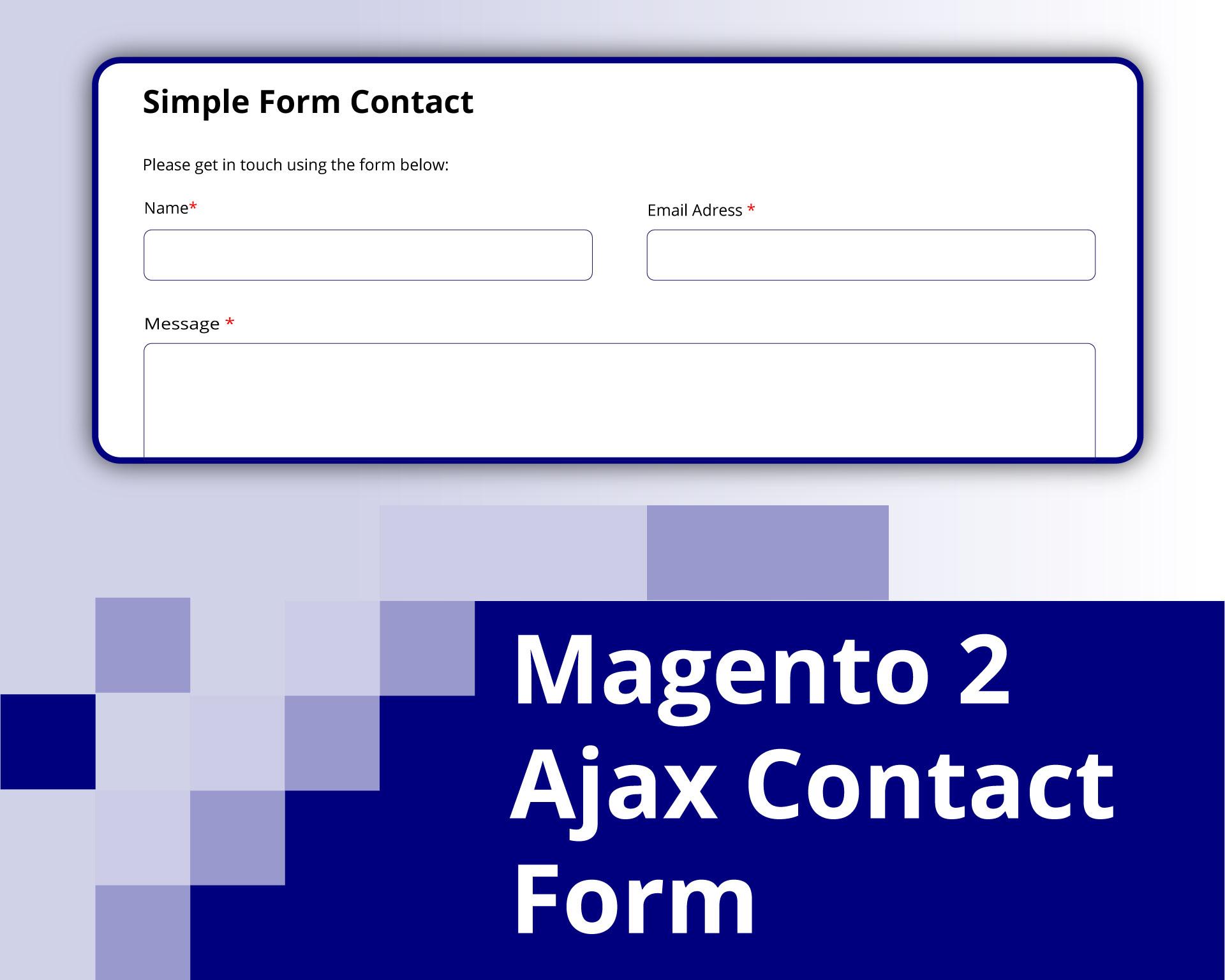 Magento 2 Ajax Contact form